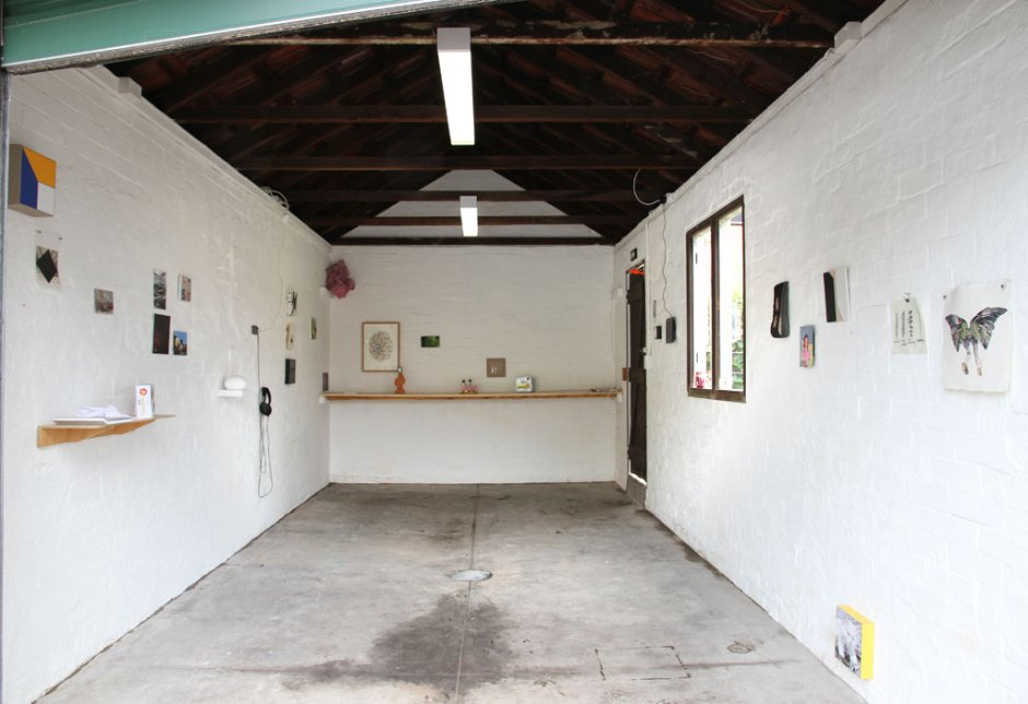 """Marrickville Garage """"+1″ exhibition, Feb 2013. The view of """"+1″ from the roller door. Source Marrickville Garage website"""