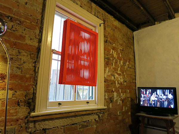 Office Feuerman, Fuzzy Window and video image from Katy B Plummer's The Allegory Of The Cave, Or, How To Light The Night When The Walls Are Rocks And Everyting Is Stopping.