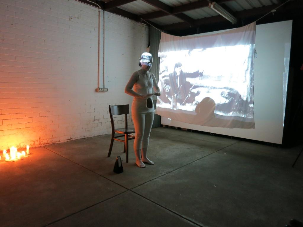Helen Pallikaros performing at The Rumpus Room