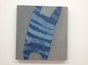 Angelica Roache-Wilson, Blue Object, 2014, oil on board.
