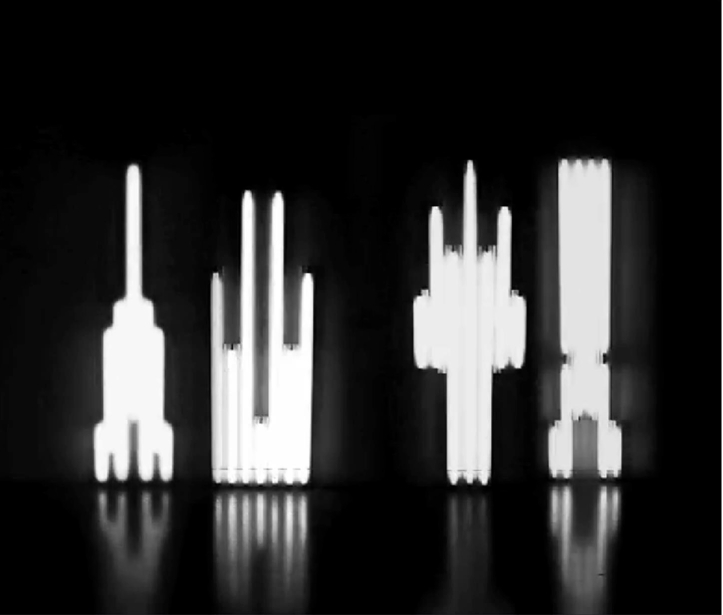 Sarah Breen Lovett 'Monument' for Flavin Black and White 2013 HD video, looped 2013
